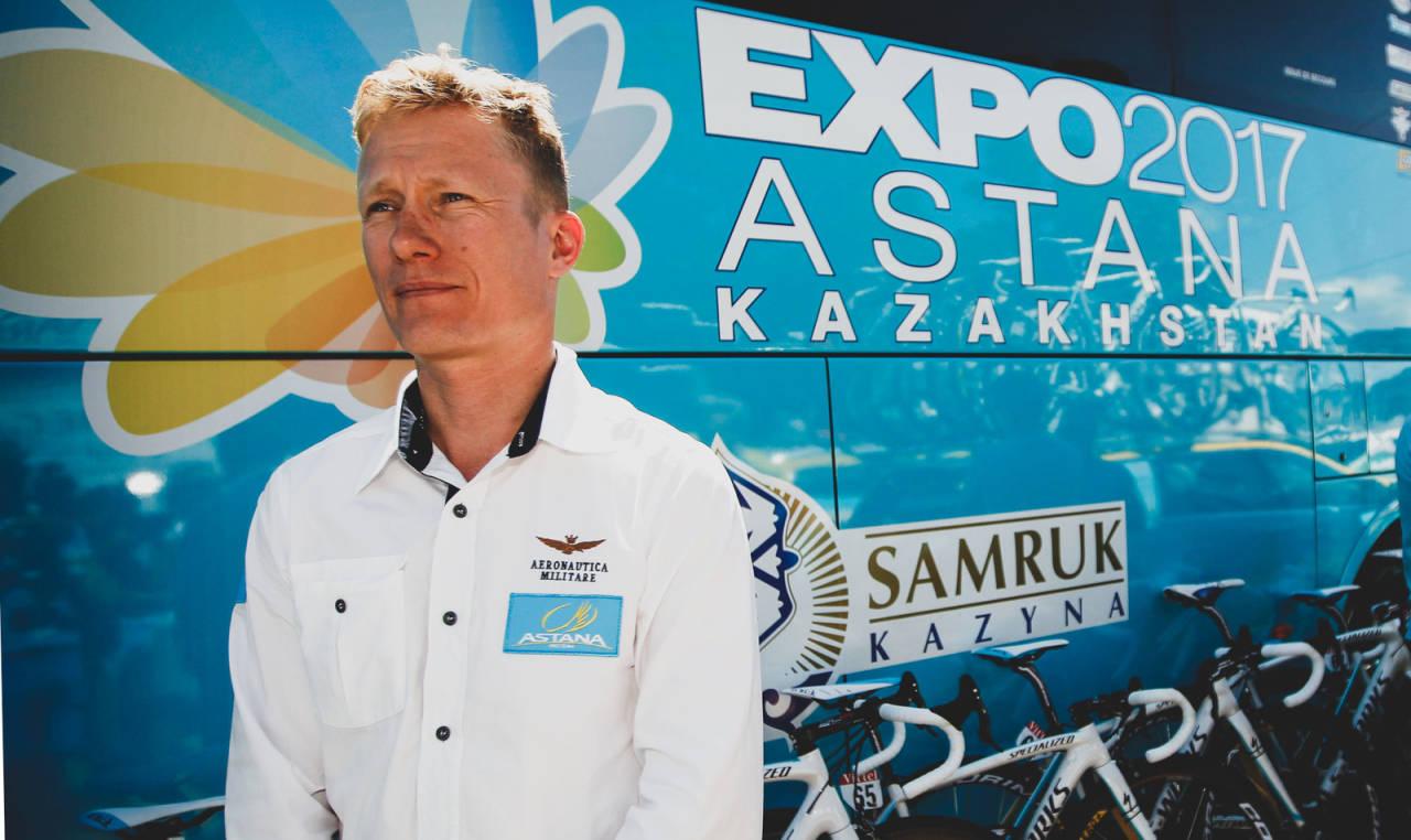 UTE: Alexandre Vinokourov har fått sparken i Astana, og vil ikke være til stede i Tour de France. Foto: Cor Vos.