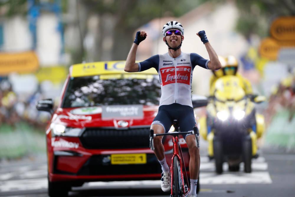 VANT: Bauke Mollema tok en ny triumf i Tour de France, da han vant den 14. etappen. Foto: Cor Vos