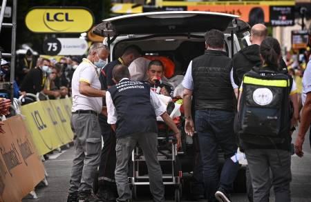 BRUTALE SCENER: Tredje etappe i Tour de France 2021 vil huskes som en av de blodigste i rittets historie. Foto: Cor Vos.