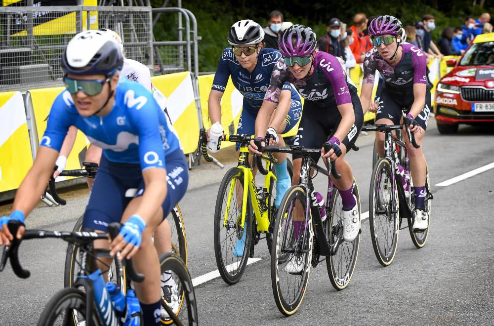 SLET: Katrine Aalerud (Movistar) hadde en tung dag under La Course by Le Tour. Foto: Cor Vos