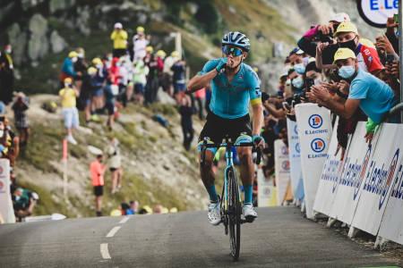 OVERLEGEN: «Superman» Lopez var suveren i dagens stupbratte avslutning opp Col de la Loze. Foto: Cor Vos.