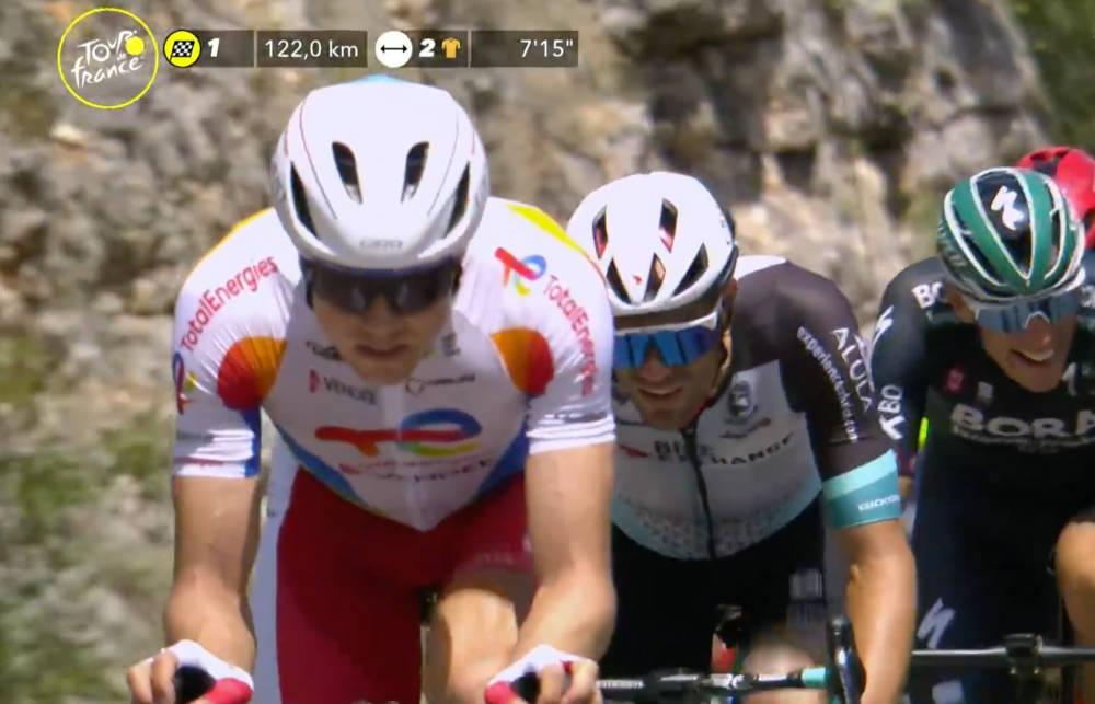 I BRUDD: Edvald Boasson-Hagen kan ta en ny etappeseier i Tour de France. Foto: Skjermdump Eurosport/Discovery+