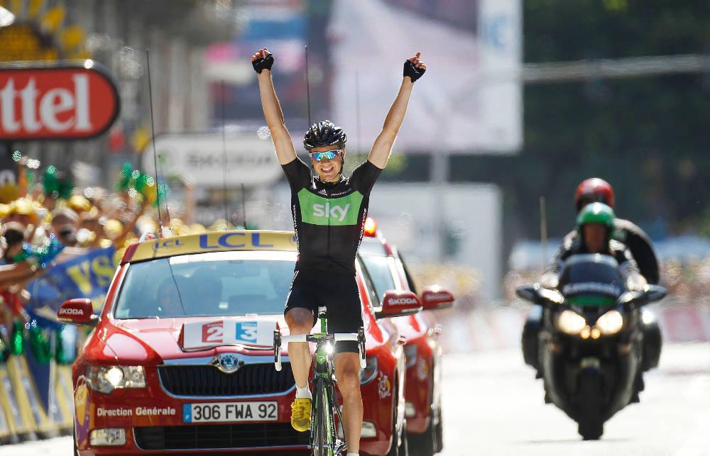 VILL ETAPPE: Edvald Boasson-Hagen vinner den 17. etappen i Tour de France 2011, som har målgang i Pinerolo. Foto: Cor Vos