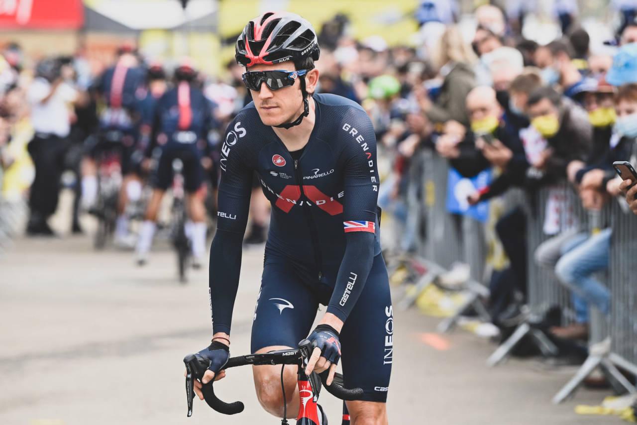 DÅRLIG START: Geraint Thomas har fått en dårlig start på årets Tour de France, og han er langt fra den eneste på Ineos Grenadiers. Foto: Cor Vos.
