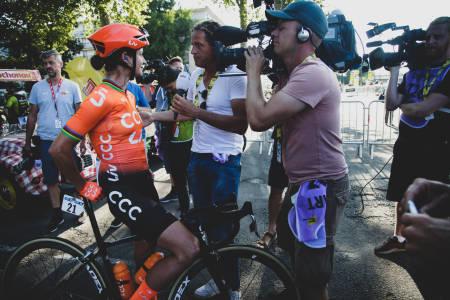 MER Å JUBLE FOR: Marianne Vos er kanskje den mest profilerte utøveren på kvinnesiden. Nå får hun vist seg frem i Tour de France også. Foto: Cor Vos.
