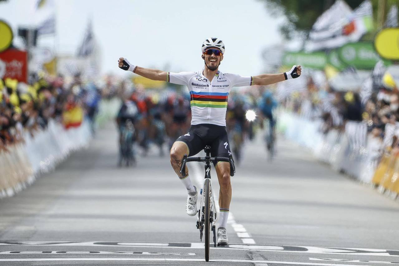 SOLID: Julian Alapihlippe var utilnærmelig på den første etappen av Tour de France. Foto: Cor Vos