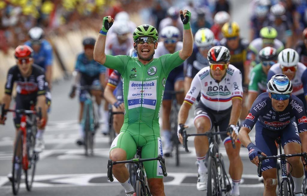 32: Mark Cavendish noterte seg for sin 32. etappeseier i Tour de France. Foto: Cor Vos.