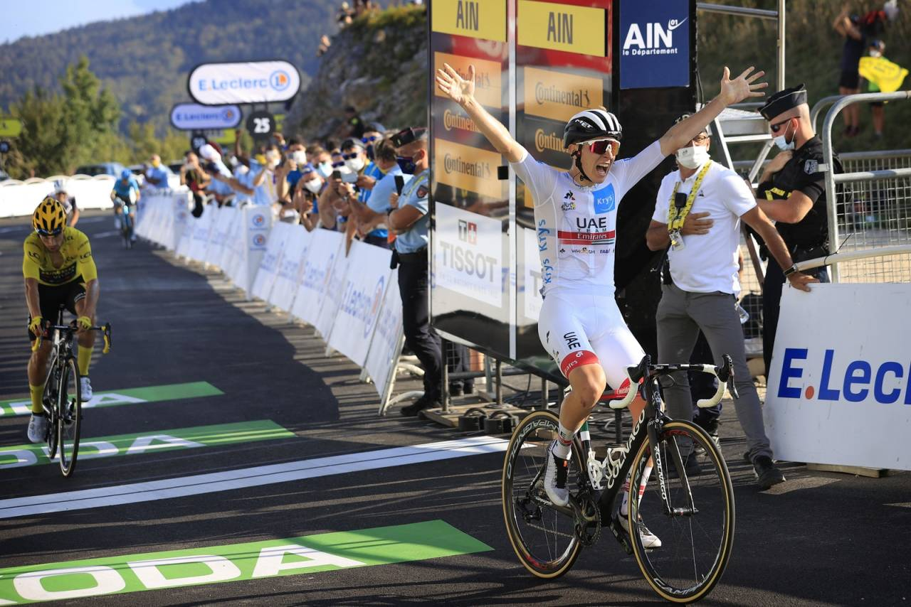 SLOVENSKE DUELANTER: Tadej Pogacar og Primoz Roglic fortsetter å herje i fjellene i Tour de France. Foto: Cor Vos.