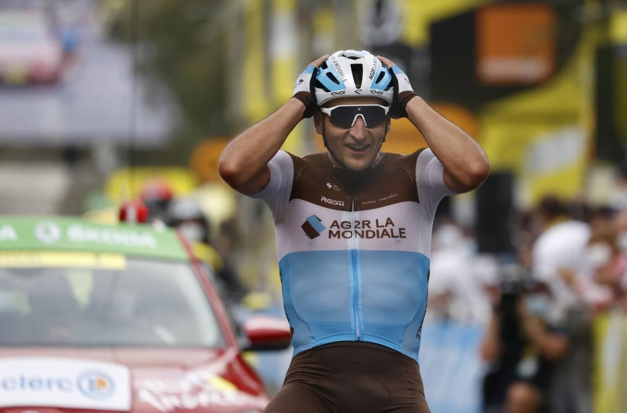 SEIERHERRE: Nans Peters kunne knapt tro at han vant dagens etappe av Tour de France. Foto: Cor Vos.