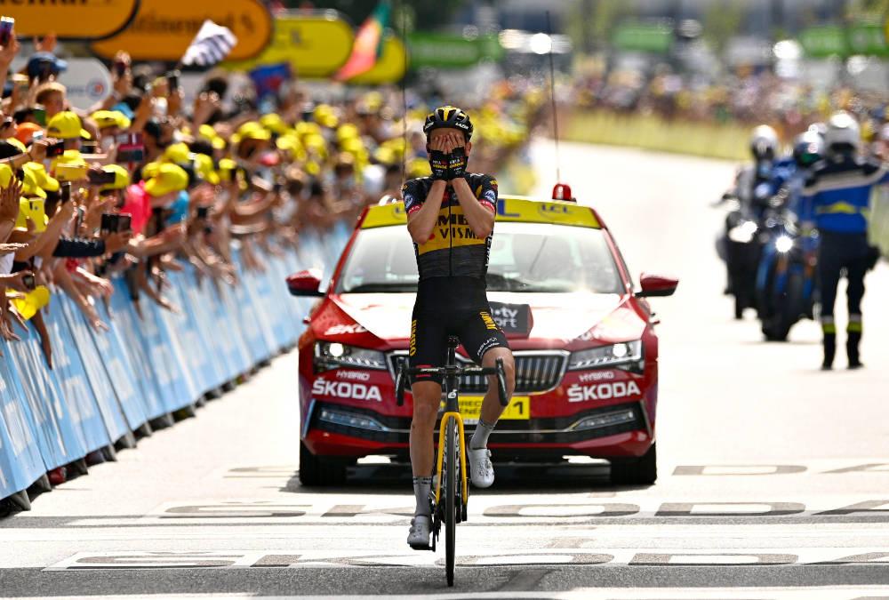 VANT: Sepp Kuss sikret karrierens første etappeseier i Tour de France på den 15. etappen. Foto: Cor Vos