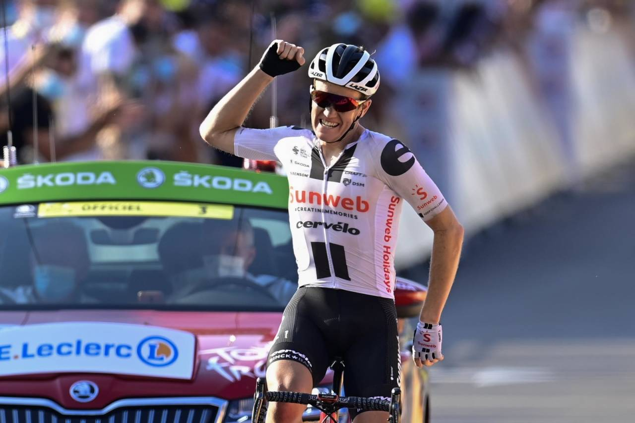 DRØMMEREPRISE: Søren Kragh Andersen tok sin andre etappeseier i Tour de France i løpet av én uke. Foto: Cor Vos.