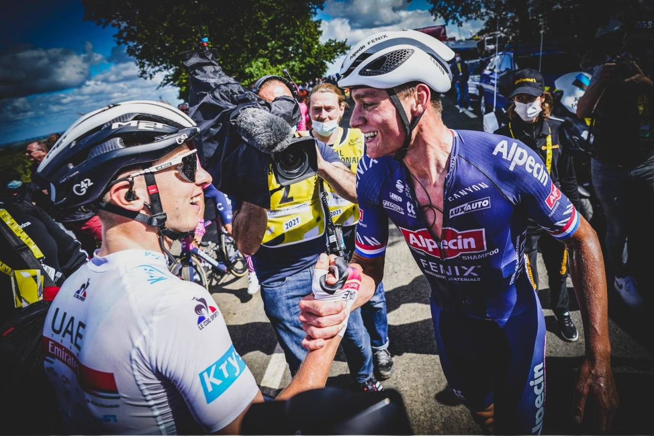 RÅSTERK: Mathieu van der Poel knuste resten av feltet i dagens etappe. Foto: Cor Vos.