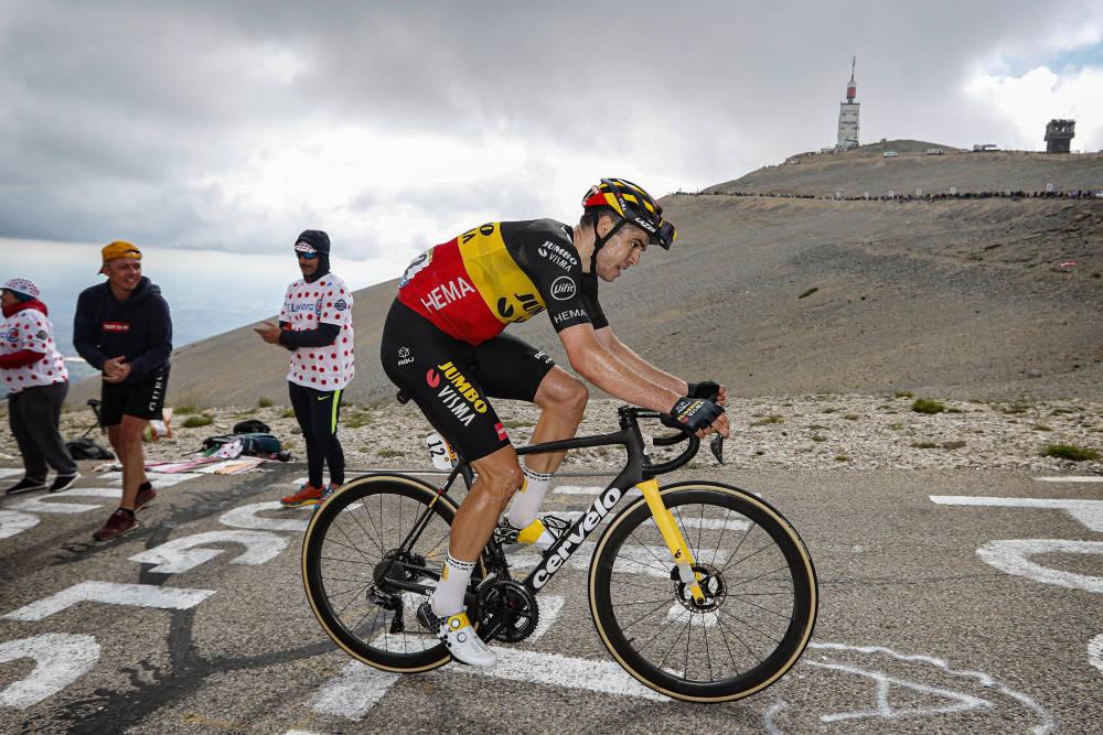 MONSTERPRESTASJON: Wout van Aert klatret formidabelt opp Mont Ventoux og vant den ellevte etappen av Tour de France. Foto: Cor Vos