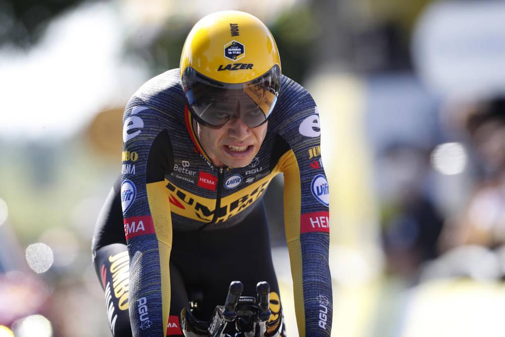 VANT: Wout van Aert tok seieren på tempoen på den 20. etappen i Tour de France. Foto: Cor Vos