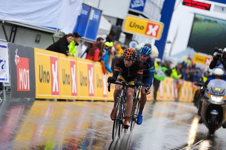 RÅSTERK: Andreas Vangstad viste klasse da han kjørte fra alt og alle på siste etappe av Tour of Norway. Foto: Snorre Veggan