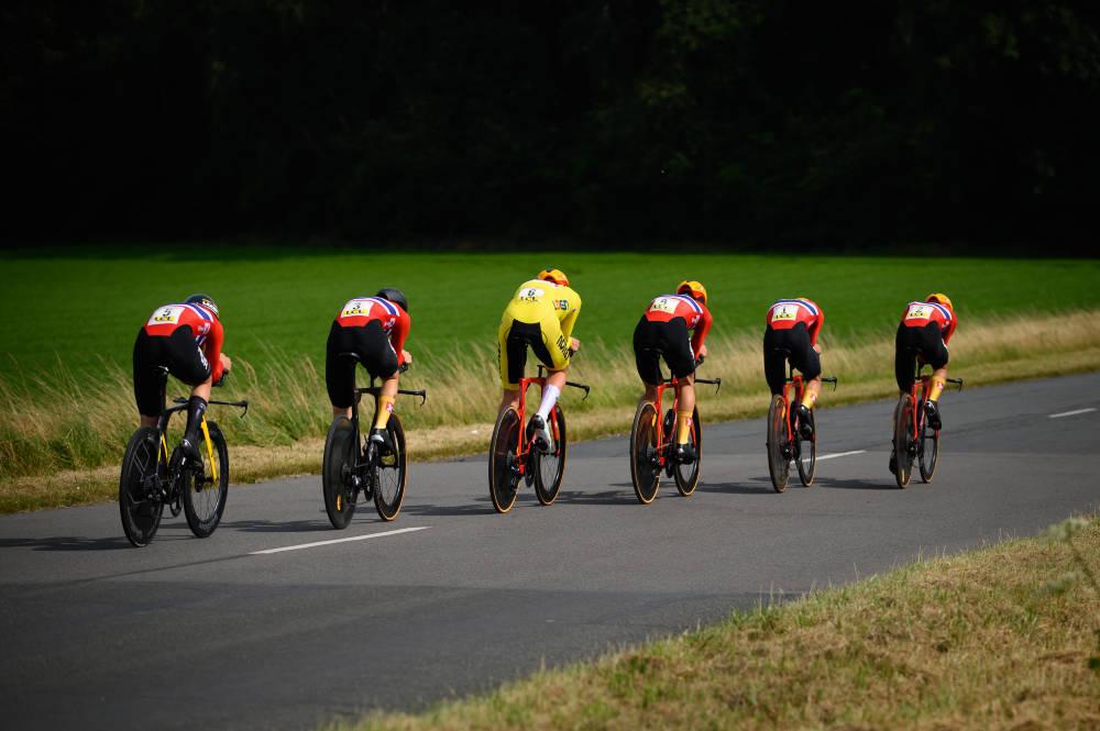 TREDJEPLASS: Det norske u23-landslaget tok en ny podieplassering på lagtempoen i Tour de l'Avenir. Foto: Anouk Flesch/Tour de l'Avenir