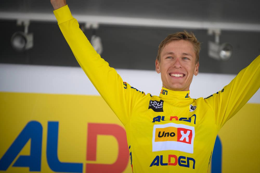 VANT: Tobias Halland Johannessen, her etter gårsdagens etappe, vant Tour de l'Avenir sammenlagt. Foto: Anouk Flesch/Tour de l'Avenir