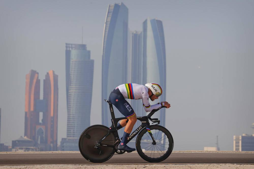 VANT: Filippo Ganna fortsetter den gode sesongstarten med en ny triumf. Foto: Cor Vos