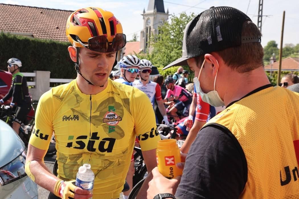 I GULT: Idar Andersen leder Tour de la Mirabelle når to etapper gjenstår. Foto: Mario Stiehl