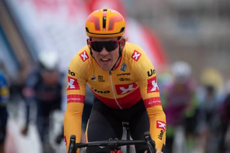 GOD SESONG: Selv om seieren har uteblitt, har Kristoffer Halvorsen hatt en god sesong i Uno-X Pro Cycling, men kan forsvinne i 2022. Foto: Mario Stiehl