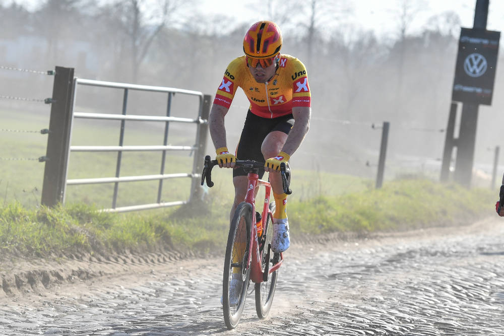 IMPONERTE: Rasmus Tiller er én av Uno-X-rytterne som har imponert i sesongstarten. Han spurtet til annenplass i Le Samyn. Foto: Mario Stiehl