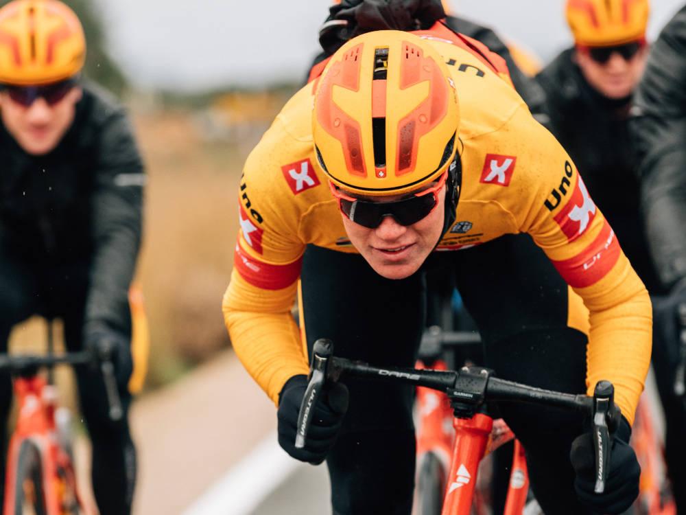 UTUR: Søren Wærenskjold var Uno-X Pro Cyclings mann i Frankrike søndag, men laget lykkes ikke helt. Foto: WordUp Projects