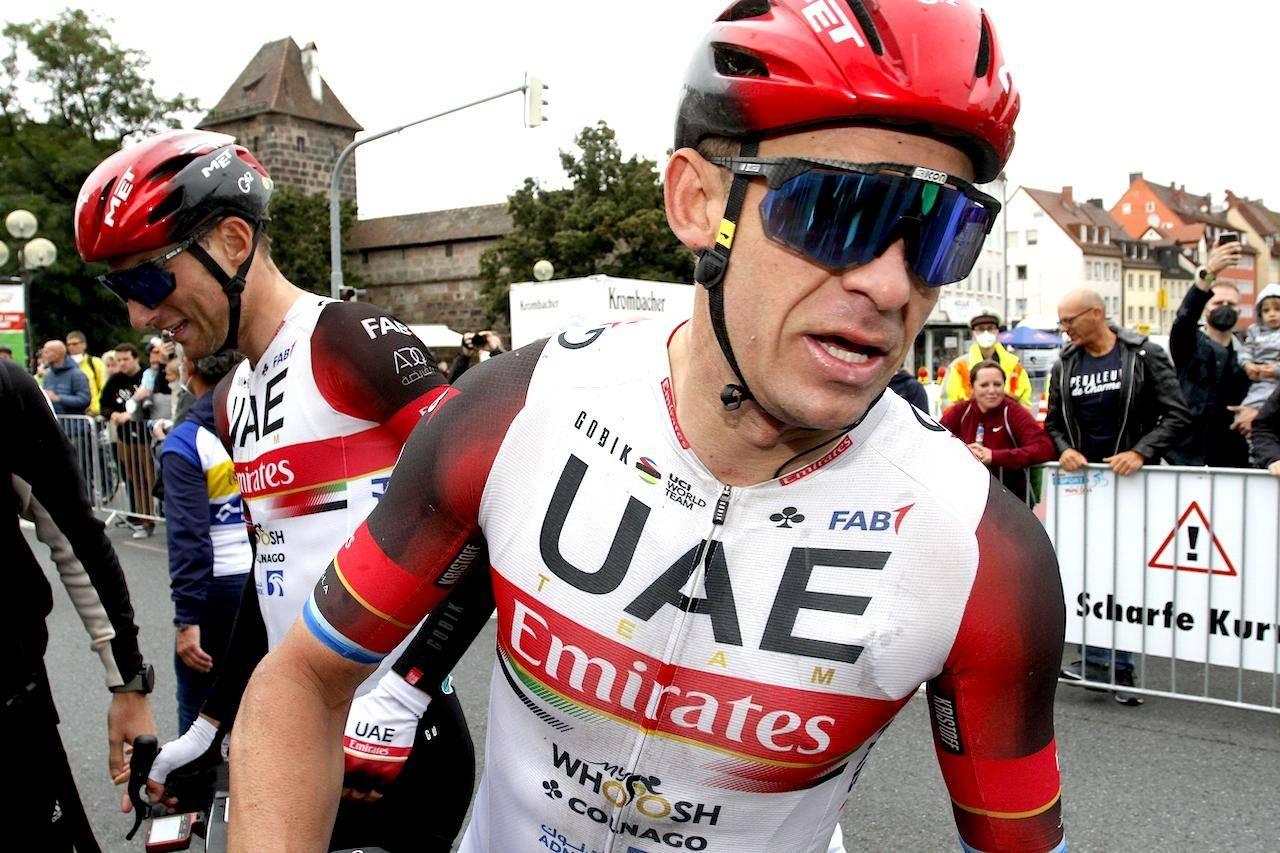 SENDER GRATULASJONER: Alexander Kristoff var på treningstur da Per Strand Hagenes tok VM-gull. Arkivfoto: Cor Vos.