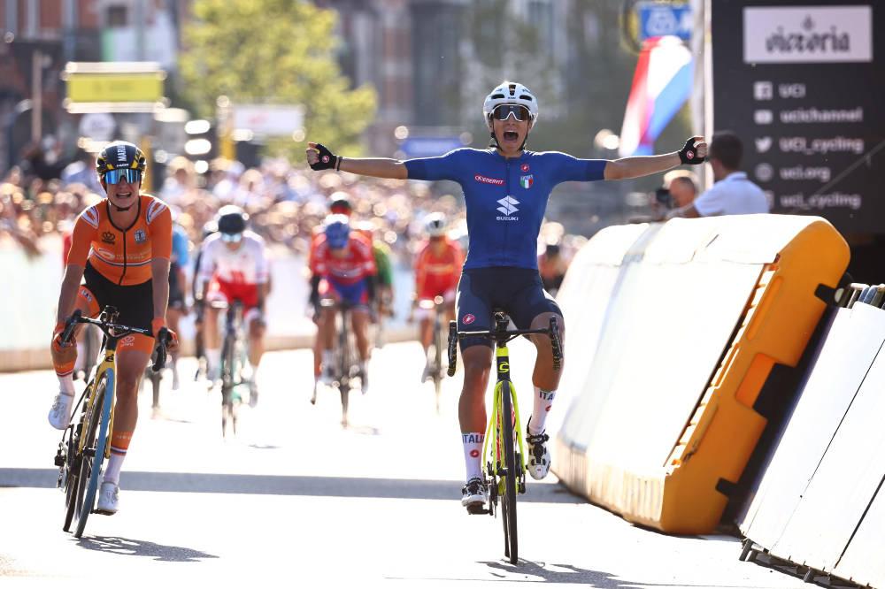 VM-GULL: Elisa Balsamo tok gullet under VM i Flandern. Foto: Cor Vos