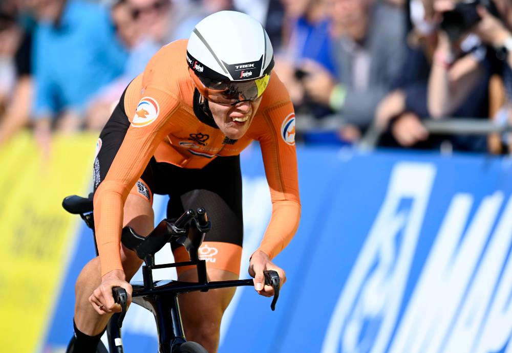 VM-GULL: Ellen van Dijk gikk til topps på kvinnenes tempo i Flandern. Foto: Cor Vos