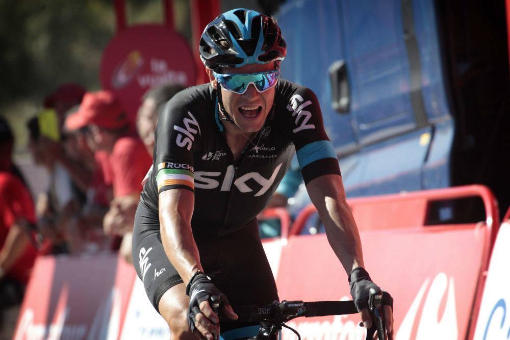 ENDELIG: Etter mange forsøk under årets Vuelta satt etappeseieren endelig for Nicolas Roche. Foto: Cor Vos