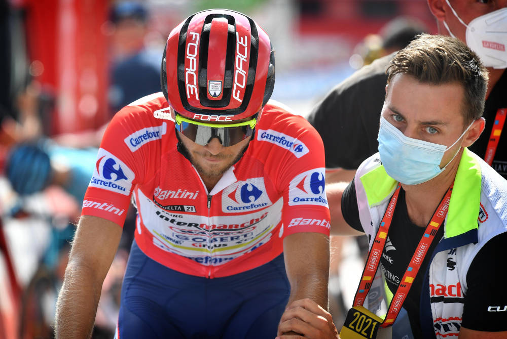 FORSVARTE LEDELSEN: Odd Christian Eiking beholder ledertrøyen i Vuelta a España. Foto: Cor Vos