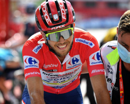 FORSVARTE TRØYA: Odd Christian Eiking leder fortsatt Vuelta a España. Foto: Cor Vos