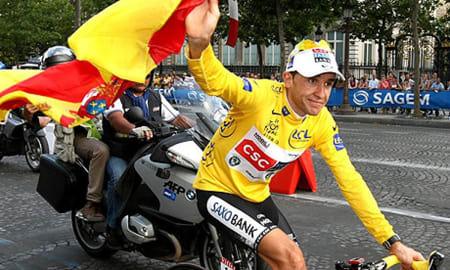 VANT TOUR DE FRANCE: Men vant han egentlig noe som helst annet? Carlos Sastre er sportens kanskje mest kjente one hit wonder. Foto: Cor Vos.