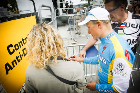 INNAFOR? Alexandre Vinokourov var i to år utestengt for dopingbruk. Vi diskuterer blant annet hans seire før og etter utestengelsen. Foto: Cor Vos.