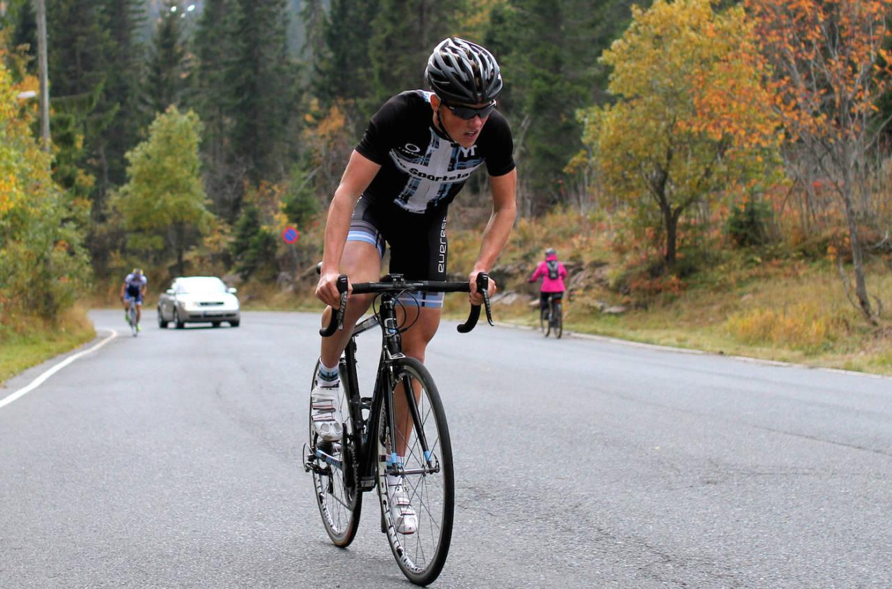 KLATEKONGEN: Carl Fredrik Hagen har vunnet Klatrekongen fire av de fem gangene konkurransen har vørt gjennomført. Foto: Martin P. Hoff