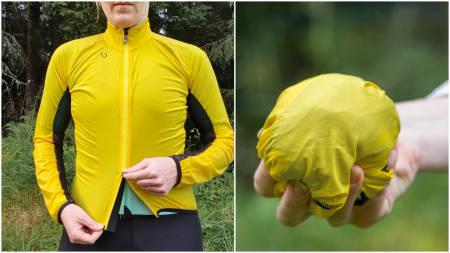 LITEN, LETT OG TYNN: Superlette vindjakker er i de fleste syklisters garderobe. Velocio har løst oppgaven på sin egen måte. Foto: Ann Katrin Pedersen.