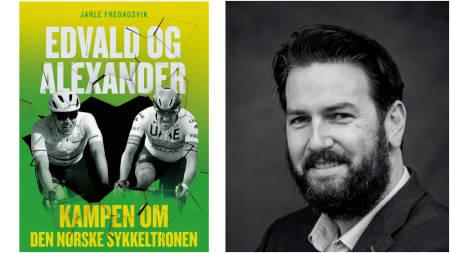 BOKUTGIVELSE: Sykkeljournalist Jarle Fredagsvik debuterer som forfatter med boken «Edvald og Alexander». Foto: Kagge forlag