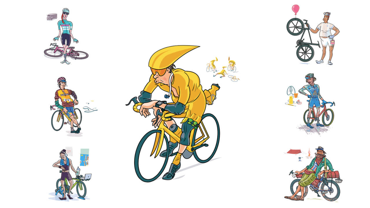 forskjellige typer i sykkelsporten