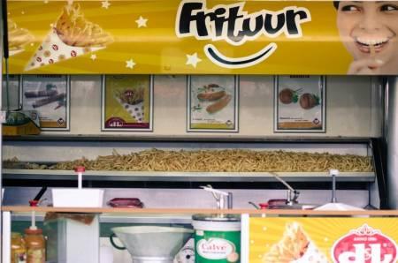 Pommes frites er populært på sykkelritt i Belgia.