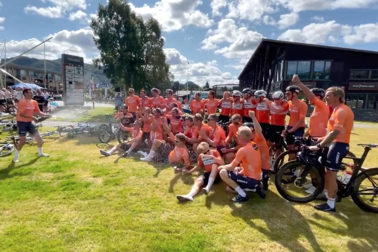 Team Kjekkas slo gjeldende rekord på Color Line Tour