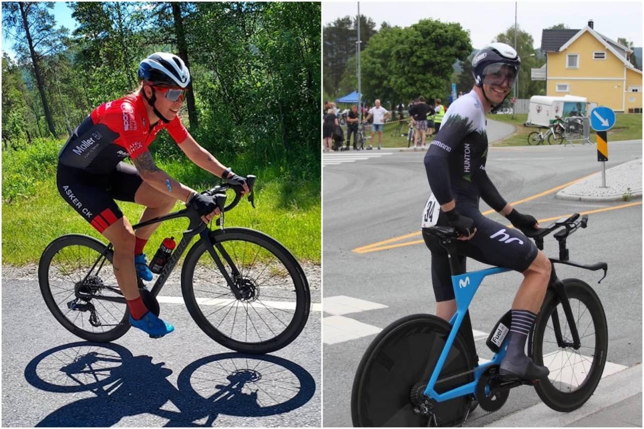 Monica Storhaug og Vidar Mehl sykler 200 kilometer tempo på søndag 4. juli