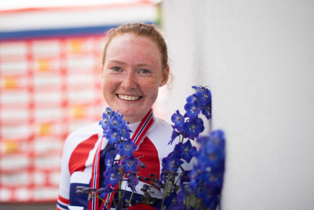NORGESMESTER: Amalie Christensen ble norgesmester på tempo. Foto: Henrik Alpers