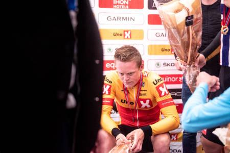 SKUFFELSENS ANSIKT: Anders Skaarseth var svært skuffet etter å ha blitt nummer to på NM-fellesstarten. Foto: Henrik Alpers