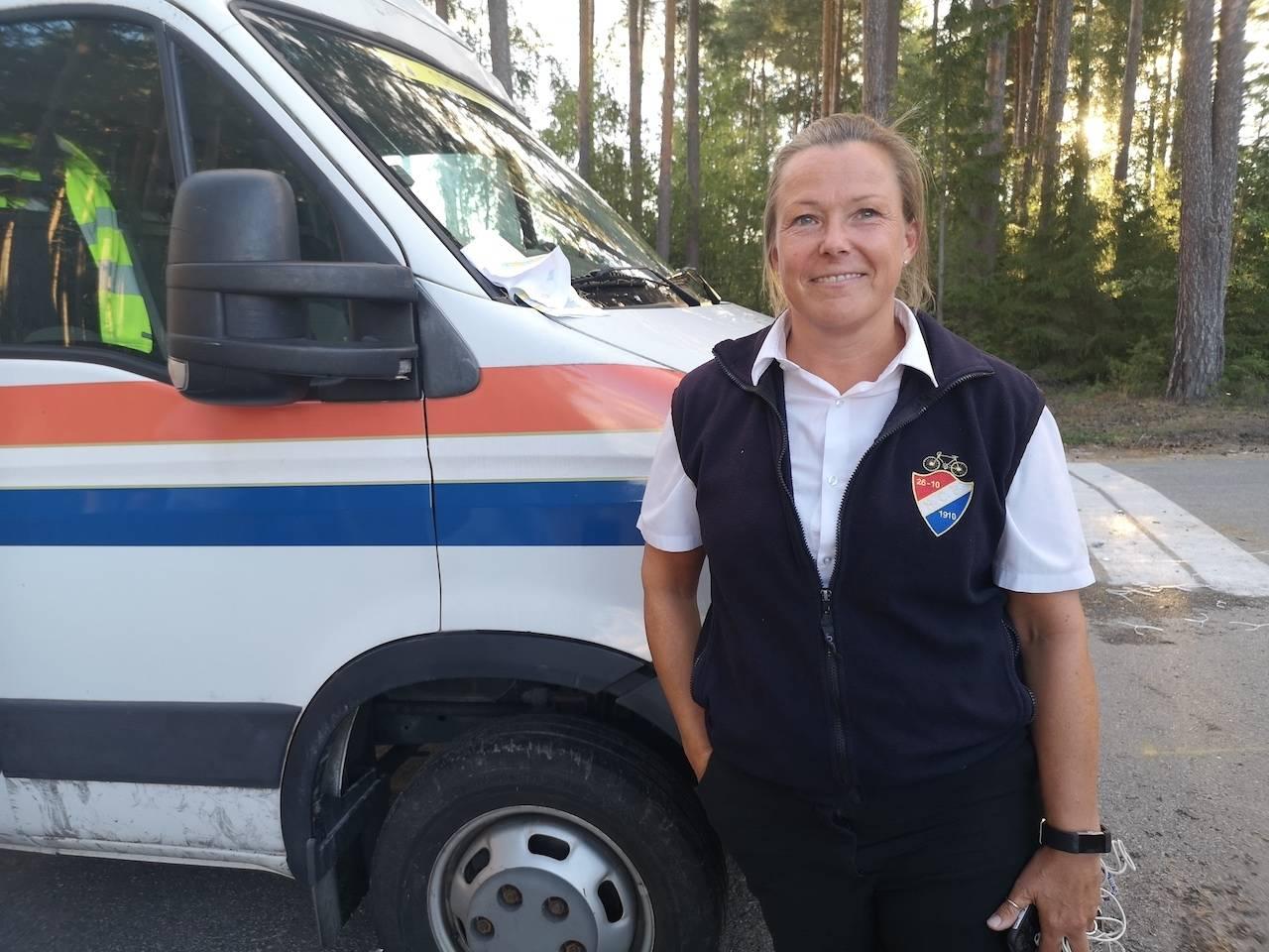 ENDELIG: Sjefskommisær under NM, Heidi Stenbock-Haakestad. Foto: Henrik Alpers.