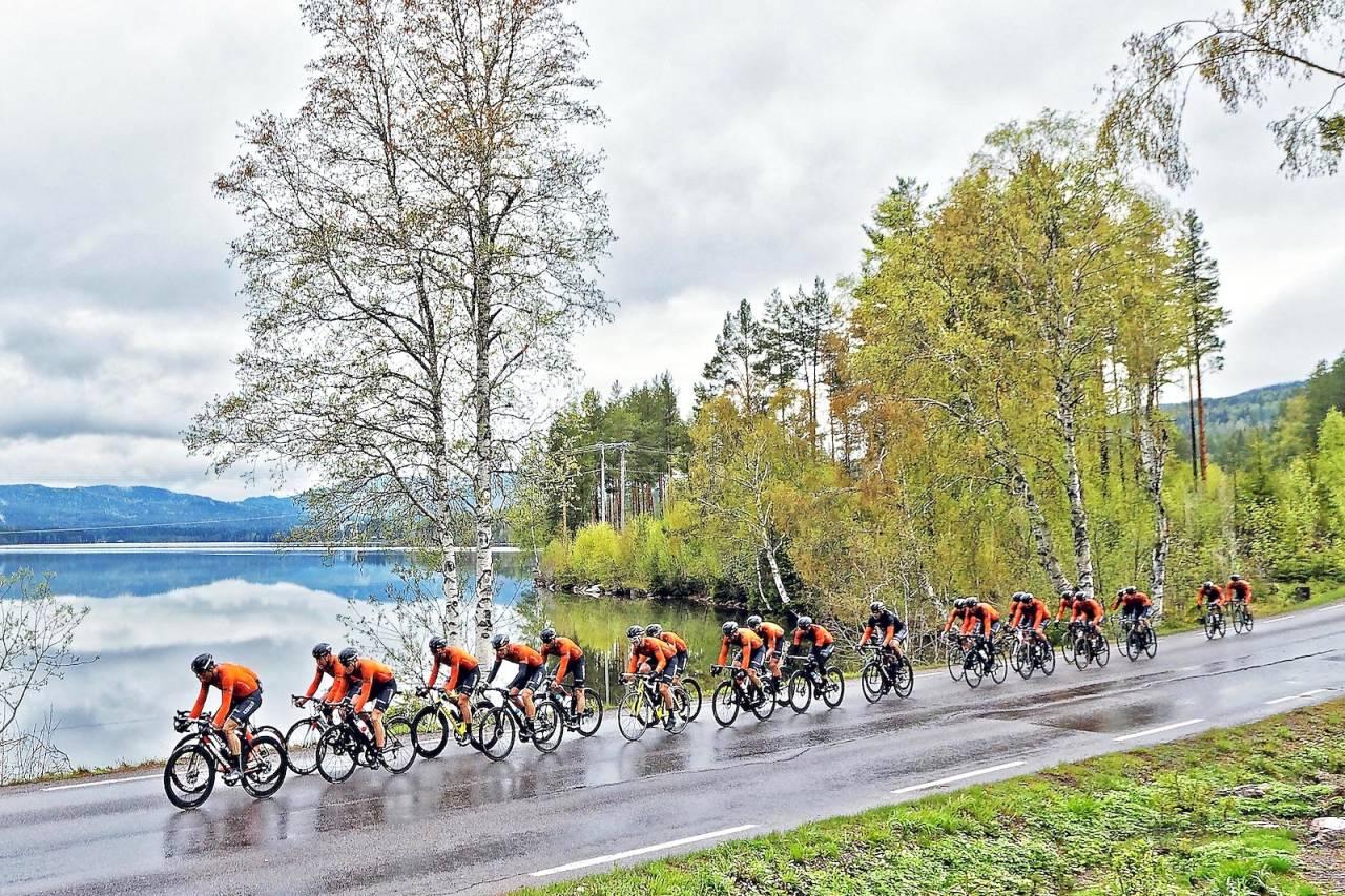 VANT IGJEN: Kjekkas forsvarte seieren i Nordmarka Rundt, som i år gikk i svært fuktige forhold. Foto: Ola Morken