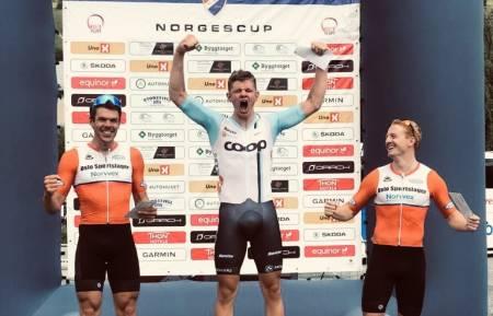 SPURTSEIER: Tord Gudmestad vant den siste etappen av Tour te Fjells. Foto: Team Coop