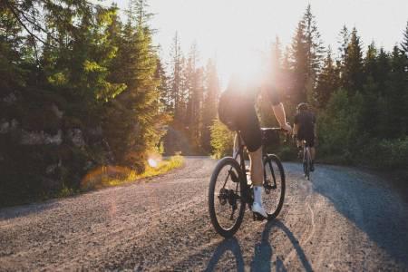 sykkelturer på grus i Nordmarka