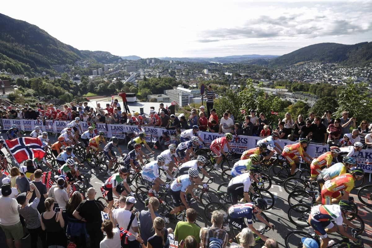 motbakkesykling motbakke bakkesykling landevei cycling Norge 71 bakker du må sykle i Norge fri flyt procycling gruppetto strava segment Vestland Bergen Landås Landåslien Salmon Hill