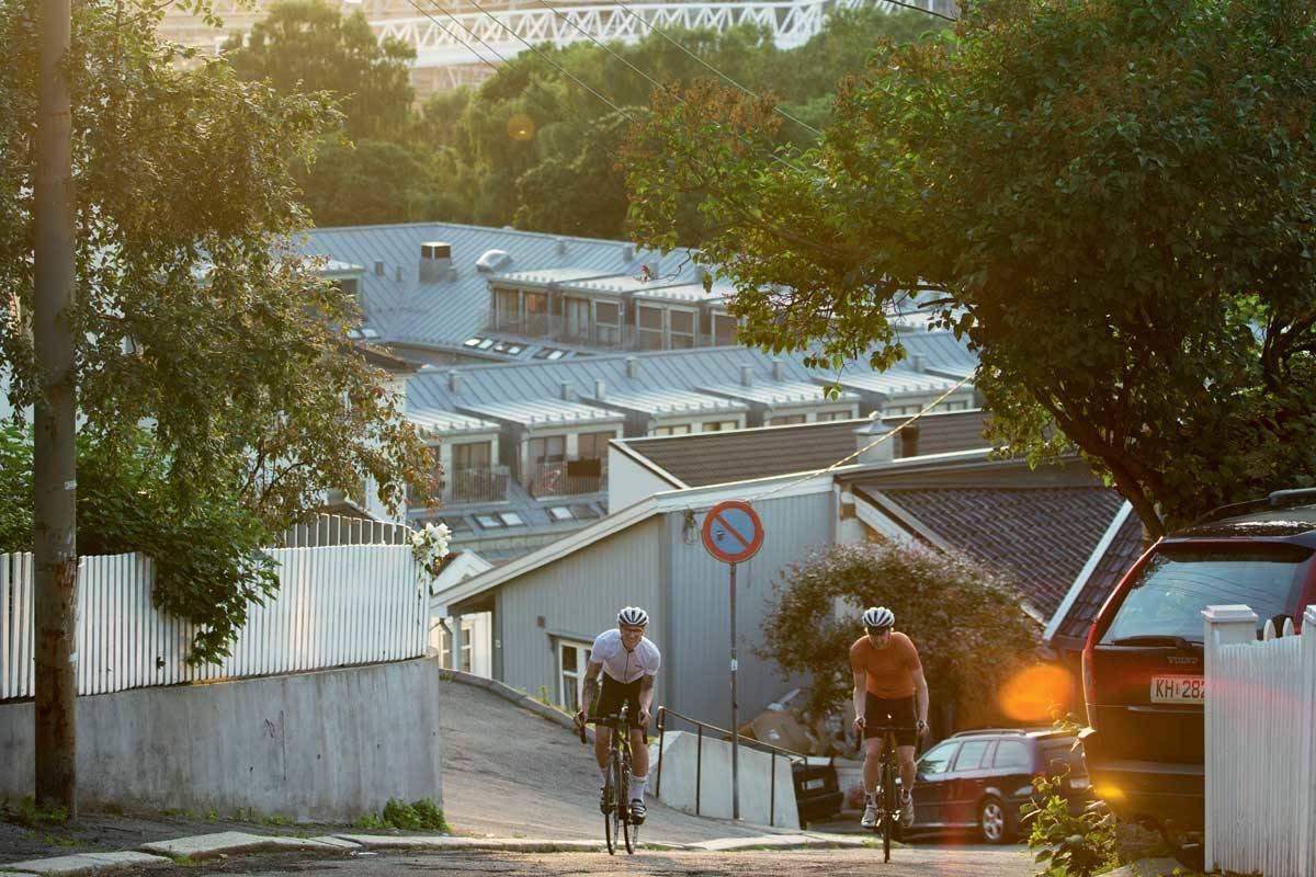 motbakkesykling motbakke bakkesykling landevei cycling Norge 71 bakker du må sykle i Norge fri flyt procycling gruppetto strava segment Oslo Ekeberg Muren