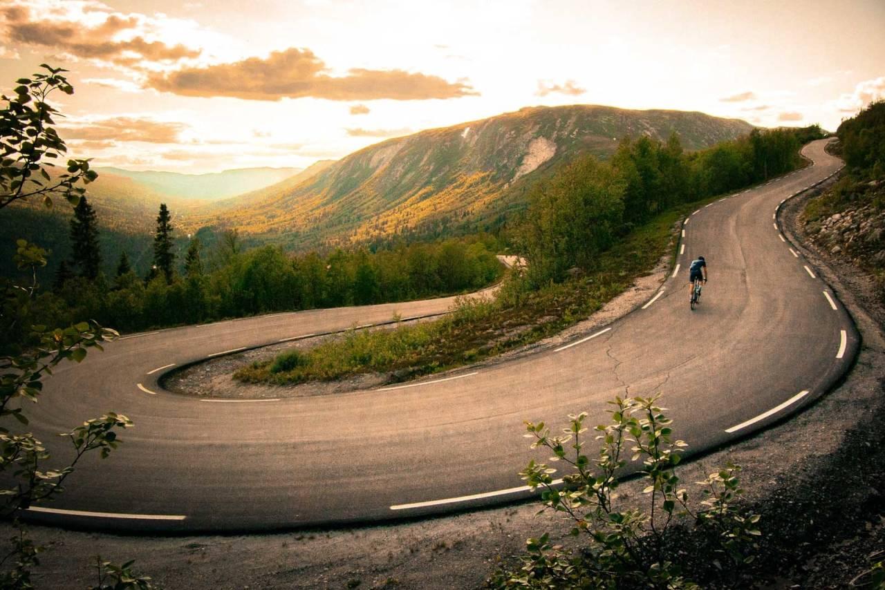 landeveisykling rødberg, norges flotteste landeveisturer